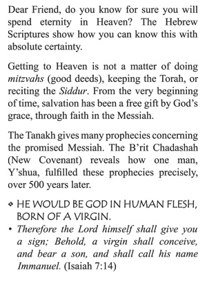 Jewish Tract | Victory In Grace